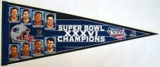 "New England Patriots Super Bowl XXXVI Champions Players Pennant 12"" x 30"""