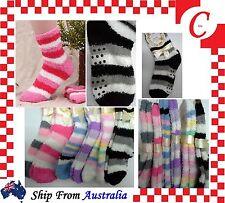 2Prs Women Winter Non-slip Fluffy LOUNGE BED SLIPPER Home SOCKS Size 2-8 Bulk