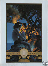 Maxfield Parrish Portal Publication Vintage  Primitive Man Litho Print Md