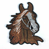 Horse Head Embroidery Patches Sew on Iron On Clothes Badge Fabric Applique Craft