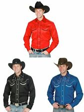 Men's 100% Cotton Retro Western Cowboy Shirt