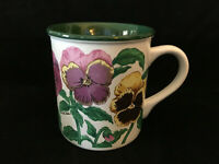 1991 Potpourri Pansies White Mug With Pansies By S.W.Lie