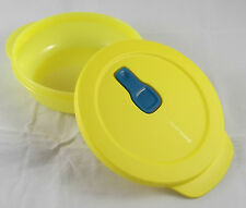 Tupperware microtup Crystal Wave Micro-Ondes Vaisselle 400 ml Rond Jaune Nouveau neuf dans sa boîte