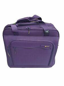 Delsey Luggage Helium Lightweight 2 Wheel Rolling Tote Purple Bag