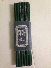 Vintage RUWE Pencil Company 902 green lead drafting NEW IN SLEEVE BOX 11