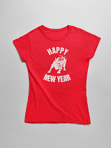 Womens Happy New Year 2021 T Shirt Year Of The Ox Chinese Zodiac Tee Lunar Year