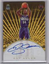 2017-18 Panini Vanguard Ray Allen Bucks On card Auto Gold 3/10