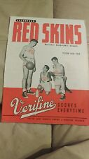 RARE 1948-49 NBL SHEYBOYGEN REDSKINS VS ANDERSON PACKERS PRE NBA #1