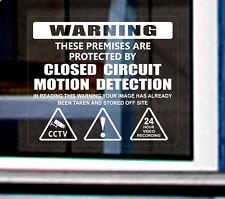2 x Warning Closet Circuit Sticker Security CCTV Video Camera Window Door Sign+