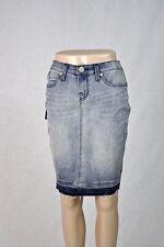 ROCK & REPUBLIC Distressed Denim Frayed Hem Jean SKIRT Size 2 NWT $60