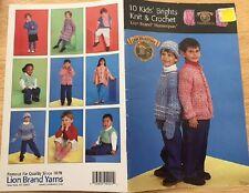 CROCHET pattern 10 KIDS BRIGHTS KNIT & CROCHET homespun yarn vest poncho sweater