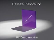 "1/4"" 2287 Translucent Violet Cell Cast Acrylic Sheet  12"" x 24"""