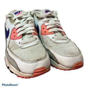Womens / Girls - Nike 'Air Max 90' - Blue / Pink / White - Trainers - UK Size 5