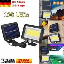 2er 100 LED Solarleuchte mit Bewegungsmelder Außenleuchte Gartenlampe Weiß DHL