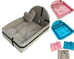 Dog Cat Bed House New Chew Proof Beds Elevated Warm With Removable Mattress New