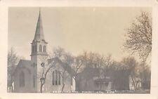 Pomeroy IA Evangelical Church & Parsonage & Neighbor~RPPC 1911