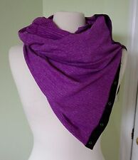 NEW Lululemon Vinyasa Scarf Mini Check Pique Heathered Tender Violet NWT Rulu
