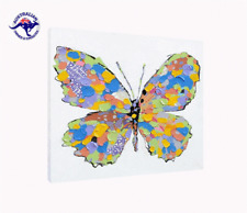 'Colorful Butterfly' Oil Painting - CLEARANCE SALE - $ 1 Auction Bargain