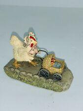 Lowell Davis Chicken Hen Baby Carriage Double Yolker Figurine Schmid Farm animal