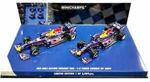 MINICHAMPS 1/43 2009 RED BULL RACING F1 RB5 CHINESE GP VETTEL WEBBER 402091415