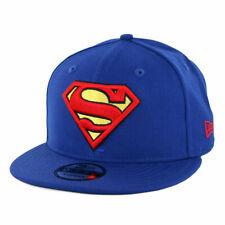 """New Era 9FIFTY """"Superman"""" Snapback Hat (Royal Blue) Men's DC Comics Cap"""