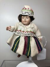 5� Vintage Antique All Celluloid Jointed Beautiful Doll Very Detailed Dress #Sf