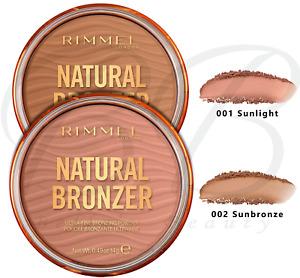RIMMEL Natural Bronzer Ultra-Fine Bronzing Powder 10Hr SPF-15 14g *CHOOSE SHADE*