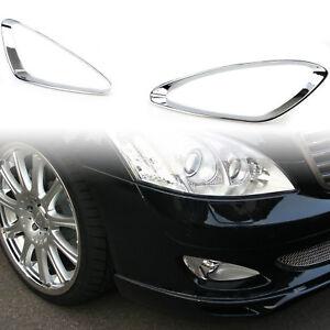 Chrome Fog Light Moulding Trim Frame For Mercedes Benz W221 Prefacelift S350