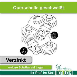 """Querschelle Kreuzschelle Kreuzklemme 1"""" x 1"""" (33,7 x 33,7) geschweißt"""