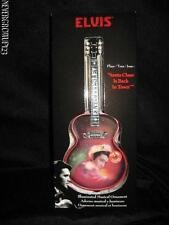 "ELVIS ""SANTA CLAUS IS BACK IN TOWN"" GUITAR SHAPED ORNAMENT~MUSICAL~LIGHTS~NIB"