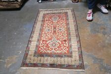 Antique Caucasian Russian Kuba Rug Hand Knotted Wool/Wool 3'4 x 5'6
