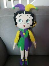 Jester Betty Boop Mardi Gras 16.5� Plush Doll 2004 Kellytoy