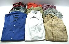 Lot Of 9 Men's Large Shirts Casual Career Professional Button Down Dress Shirt