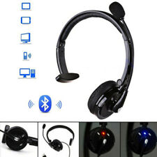 Noise Cancelling Wireless Bluetooth Headset Over the Head Boom w/Mic For Trucker