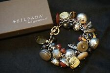 SILPADA - B2003 - Serpentine Chalcedony Kadam Padauk Ebony Wood Bracelet - RET
