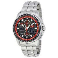 Citizen Eco-Drive Men's JY8059-57E Skyhawk Red Arrow A-T Black Dial 47mm Watch