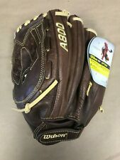 "Wilson 12.5"" A800 Optima Series Fastpitch Glove Brown Left Handed Throwing"
