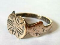 SUPERB-VERY RARE, DETECTOR FIND & POLISHED,200-400 A.D ROMAN BRONZE RING..