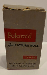 Polaroid Land Picture Roll Film Type 41 Black And White Unused Exp Apr 1956