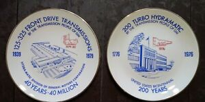 SET of 2~GENERAL MOTORS~(MICHIGAN UAW)~HYDRAMATIC TRANSMISSIONS COLLECTOR PLATES