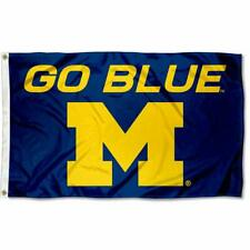 Michigan Wolverines Large Go Blue 3x5 FT College Flag Banner