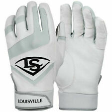 Mens Louisville Slugger Baseball Softball Batting Gloves White Black WTL6104WH