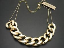 $24 Nordstrom Stephan & Co Large Metal Curb Link Chain Necklace Goldtone