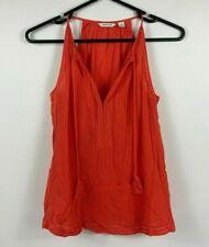 Country Road Women's Top blouse Summer Beach Top Sz XS Sleeveless Orange
