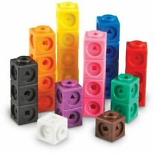 All Link Cubes Blocks 2cm 100p Maths Teacher Resource Student Learning