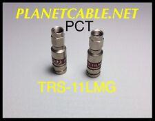 6pcs RG/11  Coaxial Fitting PCT-TRS-11LMG Compression Connectors Quad Shield