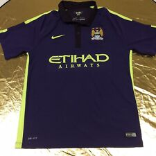 Nike Dri-Fit Manchester City Medium 2014 Jersey Purple Fluoro Yellow Colourway