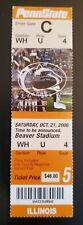 Penn State Illinois Football FULL Ticket 10/21 2006 A Morelli R Mendenhall Stub