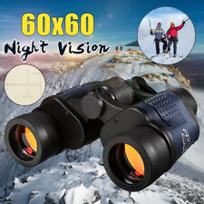 Day/Night 60x60 Military Army Zoom Binoculars HD Optics Hunting Camping 5-3000M