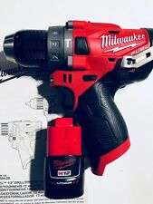 Milwaukee 2504-20 M12 FUEL 12-Volt Brushless Hammer Drill + (1) 2.0AH Battery